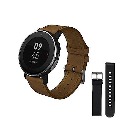 【雙錶帶版】Acer 宏碁 Leap Ware 智慧手錶 (悠遊卡錶帶&皮錶帶)