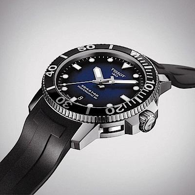 TISSOT Seastar 海星300米潛水機械錶(T1204071704100)