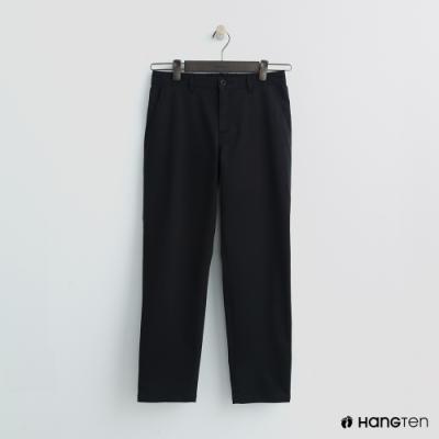 Hang Ten - 女裝 -簡約素面直筒褲 - 黑