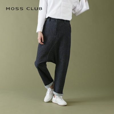 【MOSS CLUB】百搭細條紋休閒-長褲(二色)