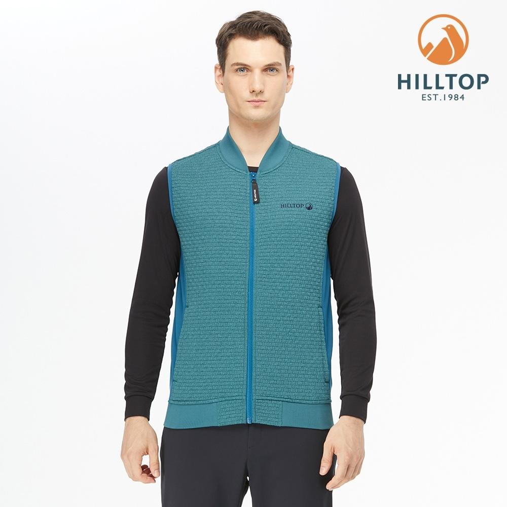 【hilltop山頂鳥】男款POLYGIENE抗菌保暖刷毛背心H25M99水電綠