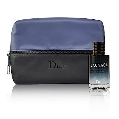 Dior 迪奧 SAUVAGE 曠野之心淡香水 10ml+Dior 洗漱包