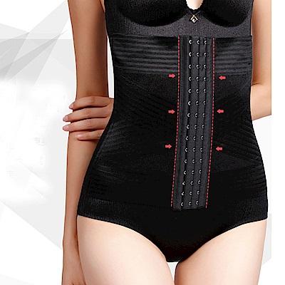 塑身褲   塑身腰封交叉排勾強效修飾腹部腰部塑身衣(M-2XL)