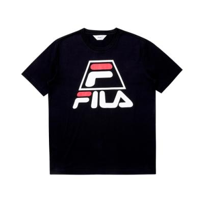 FILA 圓領上衣-黑色 1TEU-1502-BK