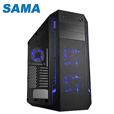 SAMA 先馬 SAF005(B) ATX 方舟戰士 透側  電腦機殼