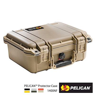 美國 PELICAN 1400NF 氣密箱-空箱(沙漠黃)