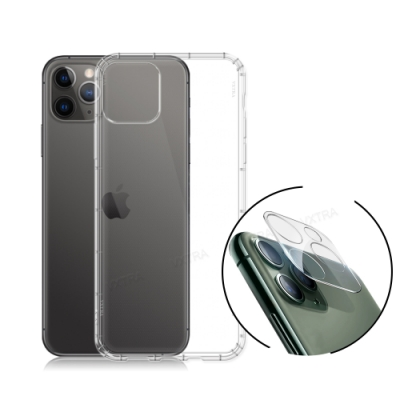 VXTRA iPhone 11 Pro Max 2.5D一體成型鏡頭玻璃貼+空壓氣墊保護殼