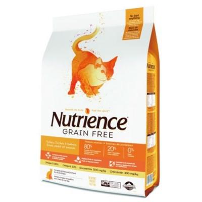 加拿大Nutrience紐崔斯GRAIN FREE無穀養生貓-火雞肉+雞肉+鯡魚(放養火雞&漢方草本) 1.13kg(2.5.lbs) (NT-F2544) 兩包組