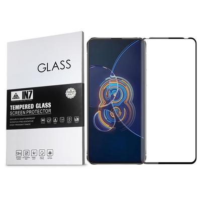 IN7 ASUS Zenfone 8 Flip (6.67吋) ZS672KS 高清 高透光2.5D滿版9H鋼化玻璃保護貼 疏油疏水 鋼化膜-黑色