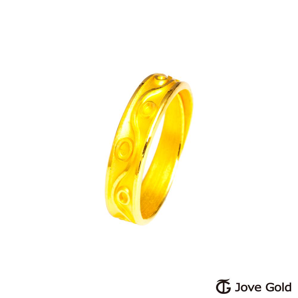 Jove Gold 漾金飾 美好旋律黃金女戒指