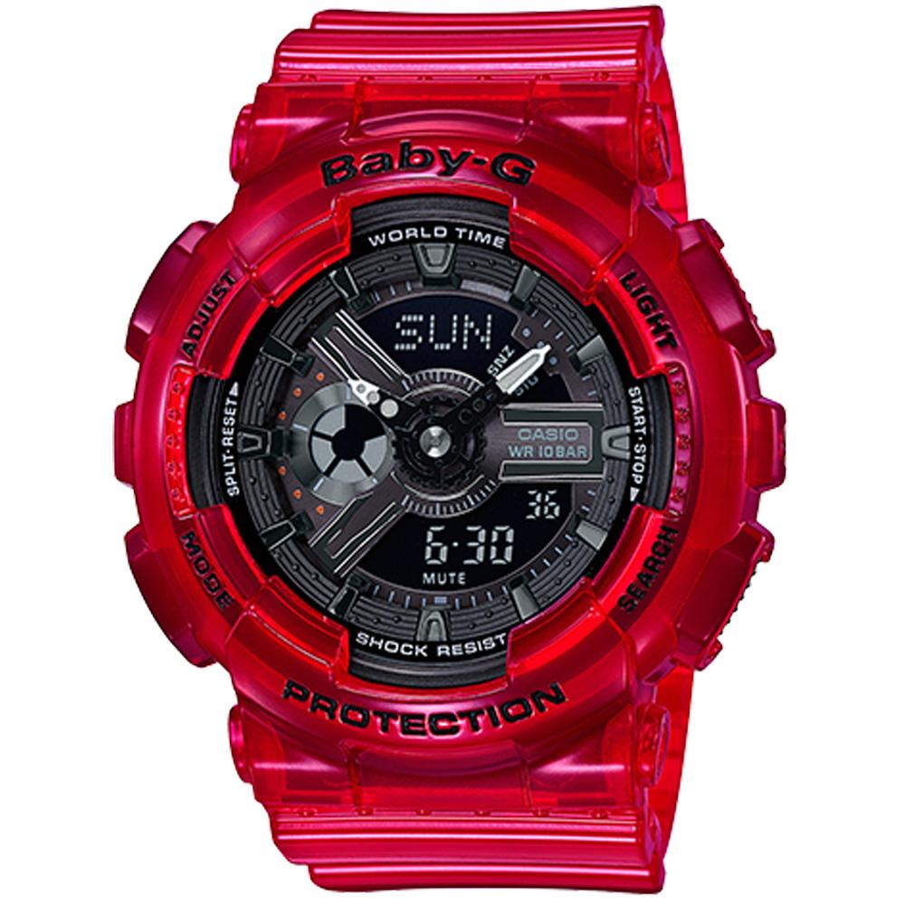 Baby-G 夏日海洋運動錶(BA-110)-紅/橘2色