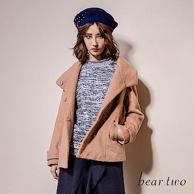 beartwo 氣質大翻領連帽短版外套(二色)