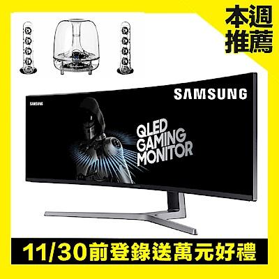 SAMSUNG C49HG90DME 49型 VA曲面商用螢幕