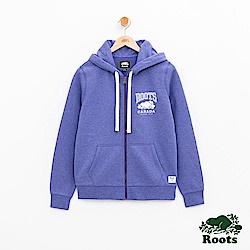 女裝Roots RBC連帽外套-藍