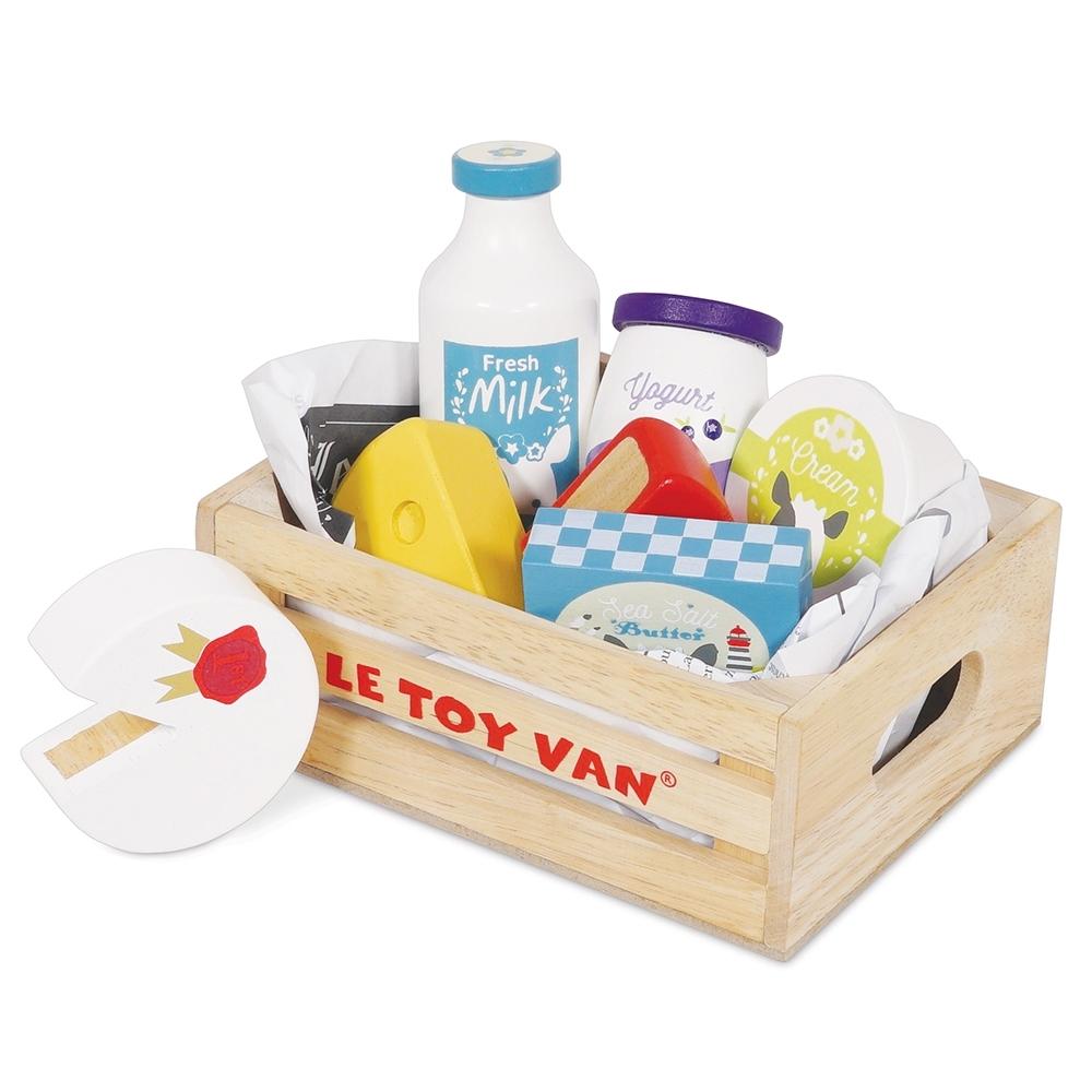 英國 Le Toy Van 角色扮演系列-起司與乳製品盒玩具組