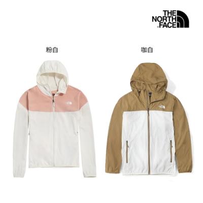 [時時樂限定] The North Face 男女 情侶 撞色透氣防曬風衣外套 (2色任選)