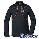 【ATUNAS 歐都納】德國DEUTER保暖長袖男拉鍊衫DE-P1505M黑/深藍