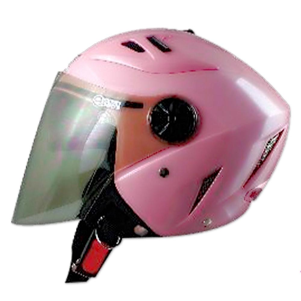 GP-5 時尚安全帽 繽紛 風洞導流設計│抗UV鏡片│半罩安全帽│全可拆│內藏墨鏡 (珍珠粉紅)