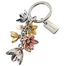 COACH可愛小花朵造型鑰匙圈