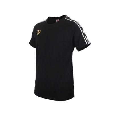 KAPPA DD52聯名男女短袖T恤-限量-菱格世代 純棉 台灣製 休閒上衣 33145CW-D17 黑黃白