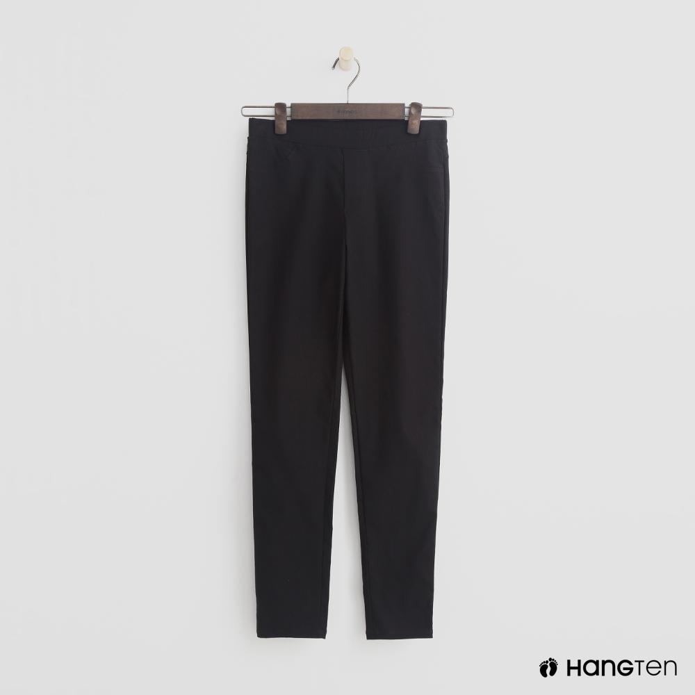 Hang Ten - 女裝 - 簡約彈性合身長褲 - 黑