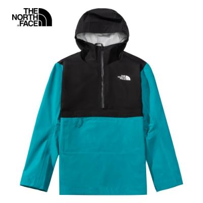 The North Face北面男款湖水藍防水透氣衝鋒衣|4N9MNX6