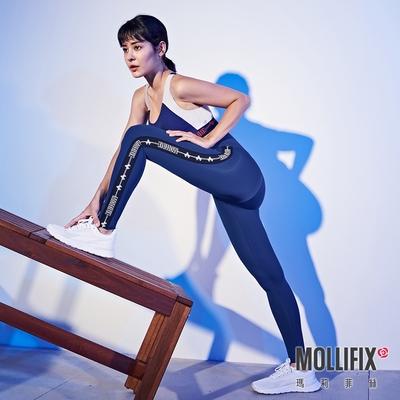 Mollifix 瑪莉菲絲 Pixel Art 極簡側織帶動塑褲 (經典藍)