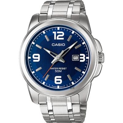 CASIO 卡西歐 紳士指針手錶-藍x銀(MTP-1314D-2A)