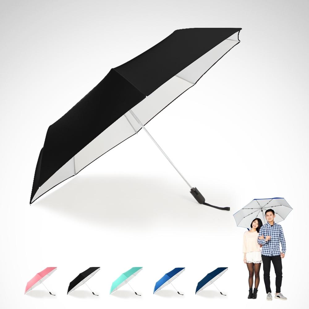 【TDN】省力回壓超撥水銀素自動開收傘 超大抗UV自動傘B1493S-神秘黑