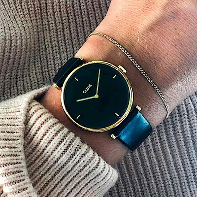 CLUSE Triomphe腕錶/ 金框/ 黑底-33mm