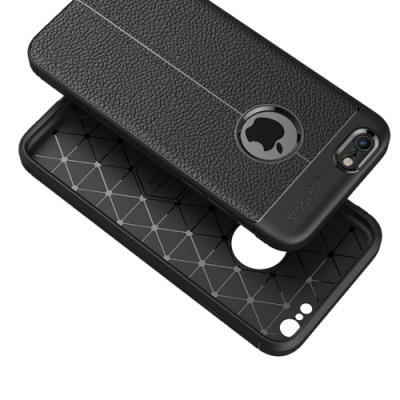 PKG Apple IPhone6/6S 4.7 抗震防摔手機殼 商務皮紋系列-黑