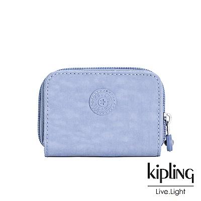 Kipling 溫柔粉藍短夾-TOPS