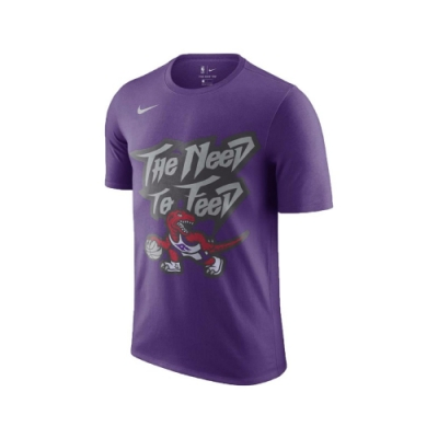 Nike T恤 Raptors NBA T-Shirt 男款 多倫多暴龍 圓領 棉質 舒適 基本版型 紫 黑 CJ5670547
