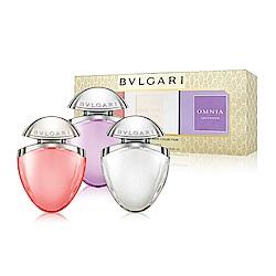 *BVLGARI 寶格麗經典女性小香禮盒15mlx3(晶艷+晶澈+紫水晶)