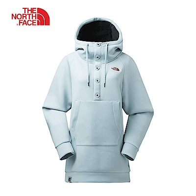 The North Face北面女款藍色保暖舒適連帽T恤|3L764CF