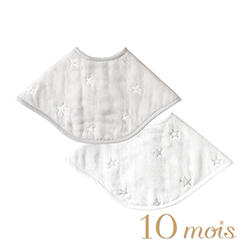 10mois 六層紗拍嗝巾圍兜(銀河星彩)