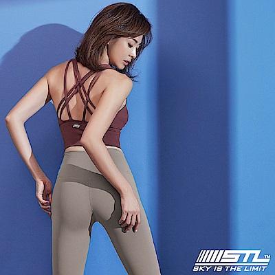 STL Crop Top Star 女運動機能內衣短版上衣 巨星梅紅