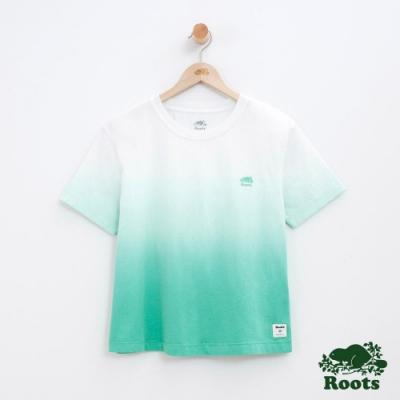 女裝Roots 漸層短袖T恤-白