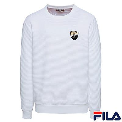 FILA男圓領T恤-白1TER-5433-WT