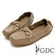 GDC-真皮舒適素色基本蝴蝶結綁帶休閒鞋-可可色 product thumbnail 1