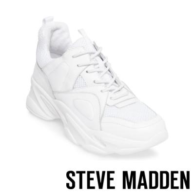 STEVE MADDEN-FRANCEY 街頭時尚 潮流基本款素面老爹鞋-白色