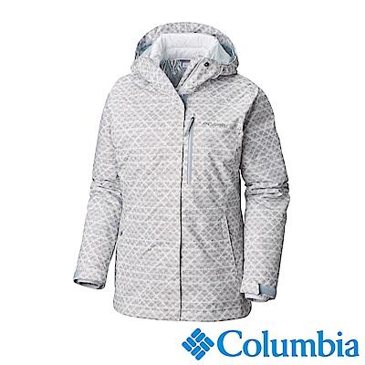 Columbia哥倫比亞 女款-Omni-HEAT鋁點保暖防水兩件式化纖外套-白色