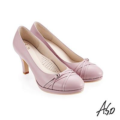 A.S.O 義式簡約 職場通勤女神專屬高跟鞋 淺紫