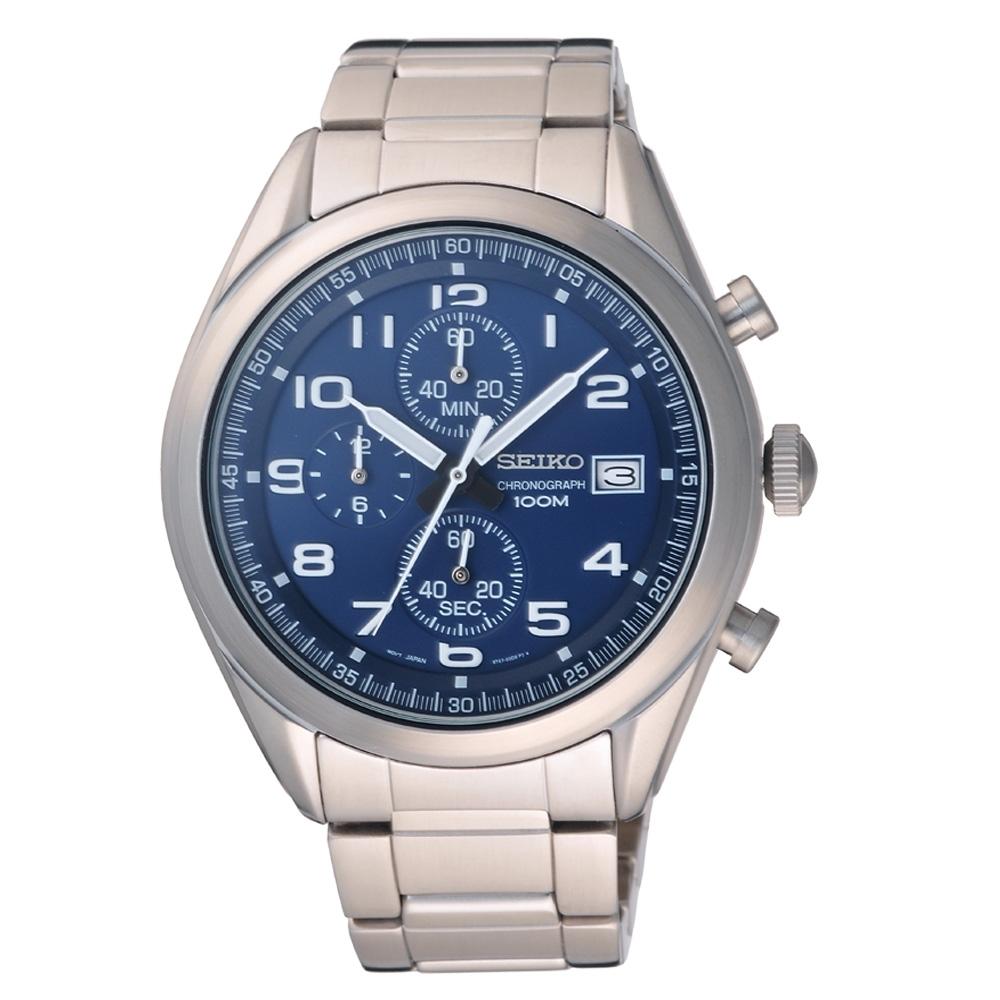 SEIKO 星際迷航三眼計時腕錶-SSB267P1-46mm