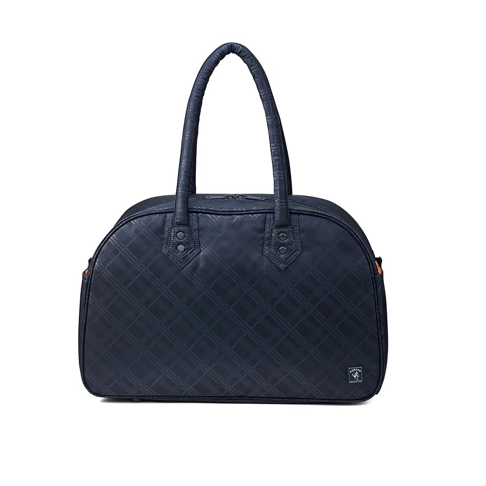 PORTER - 活力豐沛ENERGY簡約實用旅行袋 - 深藍格紋