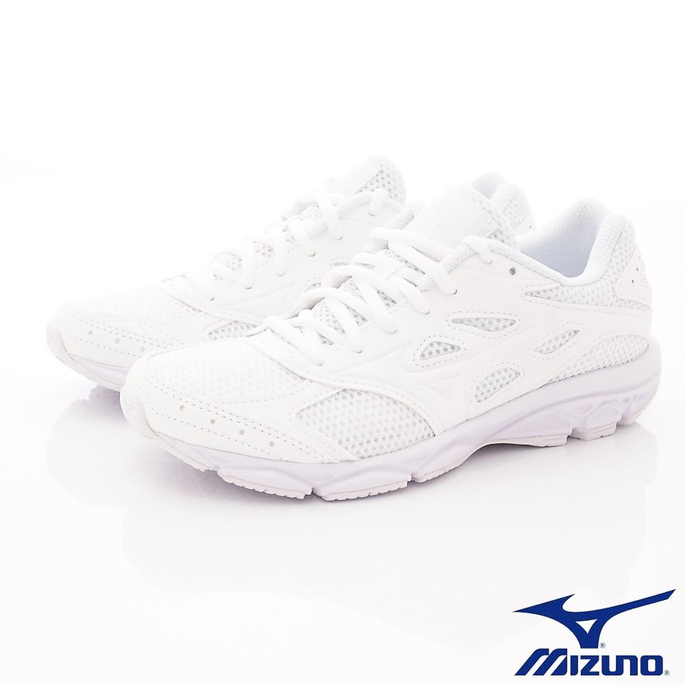 MIZUNO童鞋 止滑競速運動鞋款 ON90201白(中大童段)