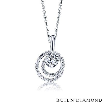 RUIEN DIAMOND GIA50分D VS2 3EX 18K白金 鑽石項鍊