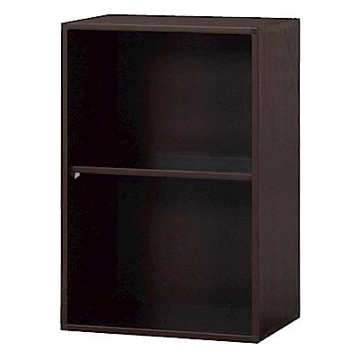 綠活居 阿爾斯環保1.4尺塑鋼開放式二格書櫃/收納櫃-43x31x66cm免組