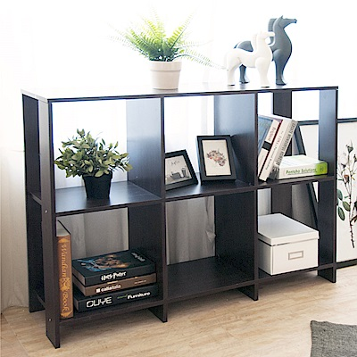 《HOPMA》DIY巧收開放式六格書櫃-寬108 x深30 x高79cm