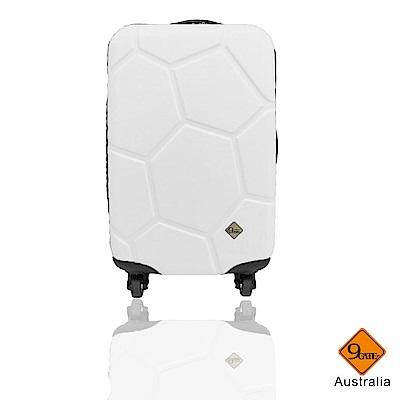 Gate9 足球系列經典20吋 輕硬殼旅行箱行李箱-白色